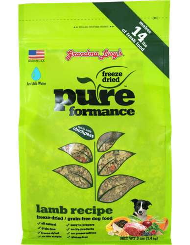 Grandma Lucys Dog  Pure Grain Free Lamb  Chickpea  3 Lbs..
