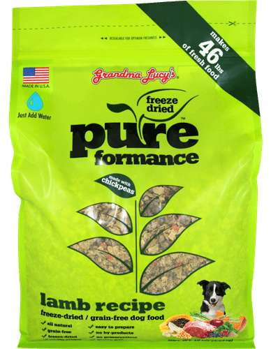 Grandma Lucys Dog  Pure Grain Free Lamb  Chickpea  10 Lbs..