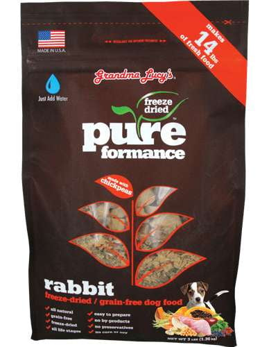 Grandma Lucys Dog  Pure Grain Free Rabbit Chickpea  3 Lbs..