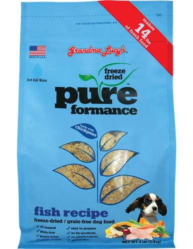 Grandma Lucys Dog  Pure Grain Free Fish  Chickpea  3 Lbs..