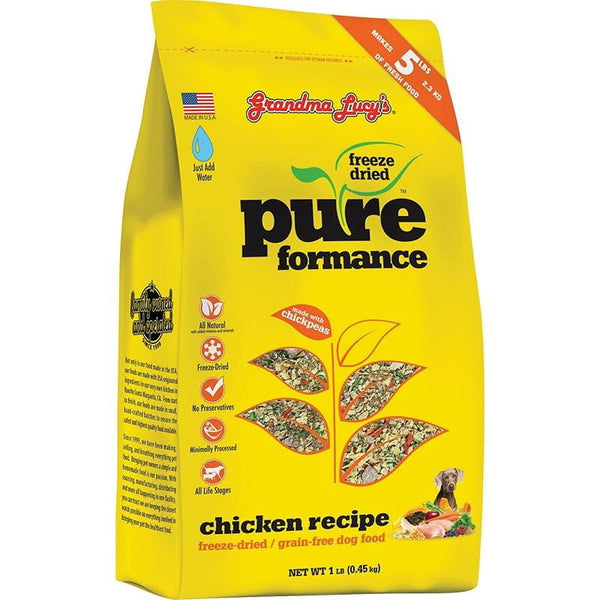 GRANDMA LUCY'S DOG FREEZE-DRIED PURE GRAIN FREE CHICKEN 1LB.