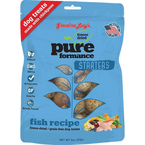 Grandma Lucys Dog  Pure  Freeze Dried  Fish  Treat  6 oz...