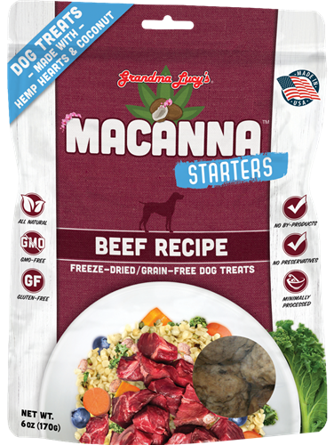 Grandma Lucys Dog Macanna  Freeze Dried  Beef Treat  6 oz...