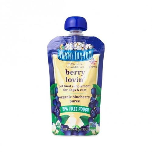 Nummy Tum Tum 4oz  Organic Berry Lovin' Dog & Cat Food Supplement  Case of 12.