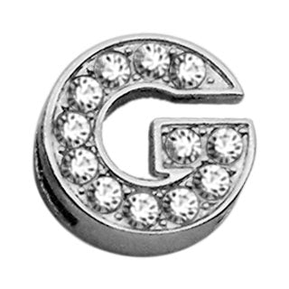 "3-8"" Clear Bling Letter Sliding Charms G."