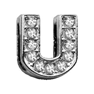 "3-8"" Clear Bling Letter Sliding Charms U."