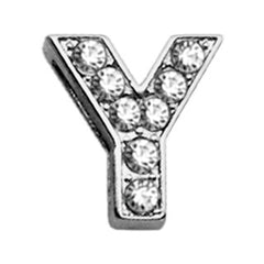 "3-8"" Clear Bling Letter Sliding Charms Y."