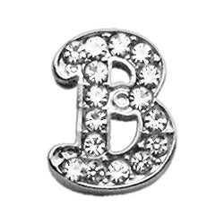"3-8"" Clear Script Letter Sliding Charms B."