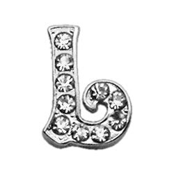 "3-8"" Clear Script Letter Sliding Charms L."