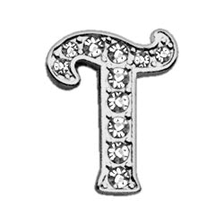 "3-8"" Clear Script Letter Sliding Charms T."