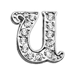 "3-8"" Clear Script Letter Sliding Charms U."