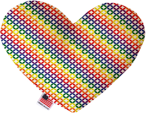 Rainbow Bright Diamonds Inch Heart Dog Toy.