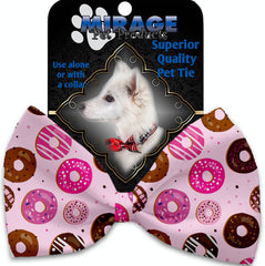 Pink Donuts Pet Bow Tie.