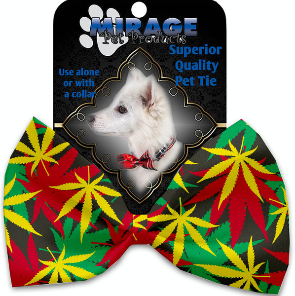 Rasta Mary Jane Pet Bow Tie Collar Accessory With Velcro.