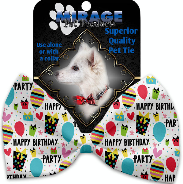 Happy Birthday Pet Bow Tie Collar Accessory With Velcro.