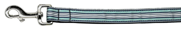 Preppy Stripes Nylon Ribbon Collars Light Blue/white Wide Lsh.