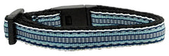 Preppy Stripes Nylon Ribbon Collars Cat Safety.