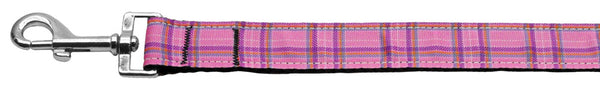 Plaid Nylon Collar Pink 1 Wide Lsh.
