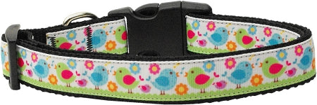 Chirpy Chicks Nylon Ribbon Collars.