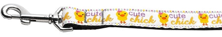 Cute Chick Nylon Ribbon Collars 1 Wide Leash.