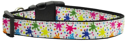 Splatter Paint Nylon Ribbon Collars.