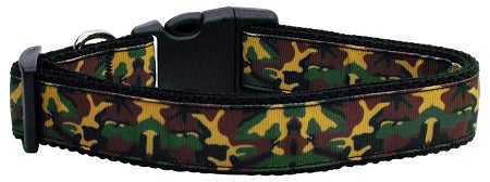 Green Camo Nylon Ribbon Dog Collars.
