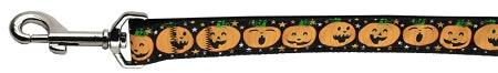 Pumpkins Nylon Ribbon Dog Collars 1 Wide Leash.