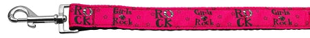 Girls Rock Nylon Ribbon Dog Collars 1 Wide Leash.