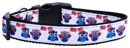 American Owls Ribbon Dog Collars.