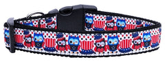 Proud Owls Nylon Ribbon Dog Collars.