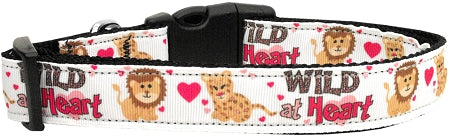 Wild At Heart Nylon Cat Collar.