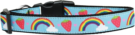 Rainbows And Berries Nylon Cat Collar.