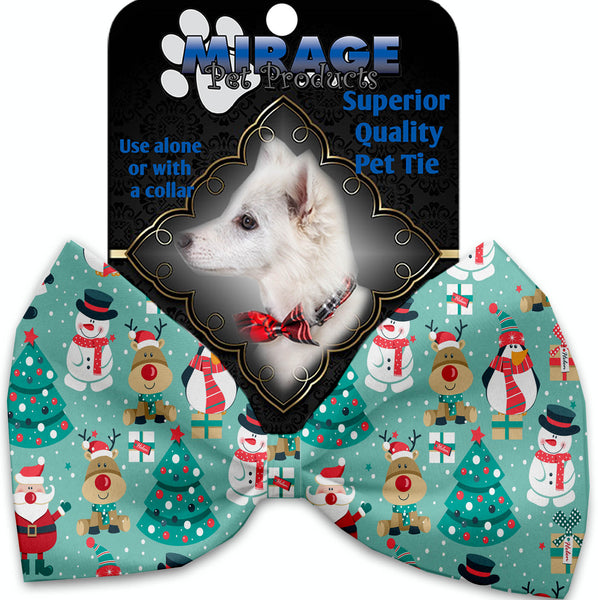 Frosty And Friends Pet Bow Tie Collar Accessory With Velcro.