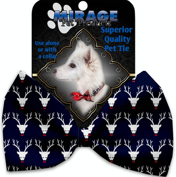 Team Prancer Pet Bow Tie Collar Accessory With Velcro.
