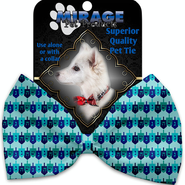 Dreidel, Dreidel, Dreidel Pet Bow Tie Collar Accessory With Velcro.