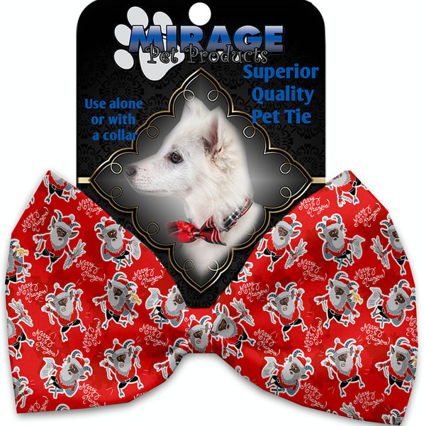 Krampus Pet Bow Tie Collar Accessory With Velcro.