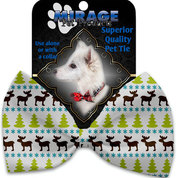 Mountain Moose Pet Bow Tie Collar Accessory With Velcro.
