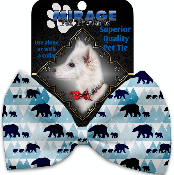 Winter Bear Tracks Pet Bow Tie Collar Accessory With Velcro.