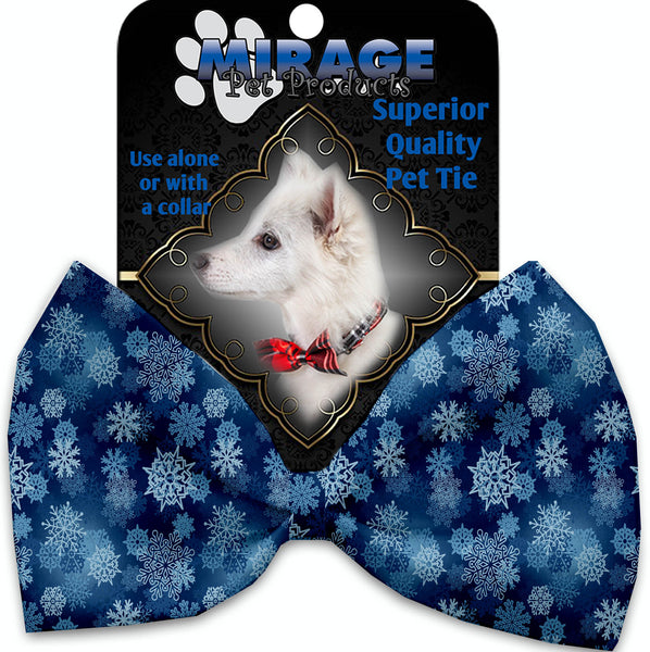 Winter Wonderland Pet Bow Tie Collar Accessory With Velcro.
