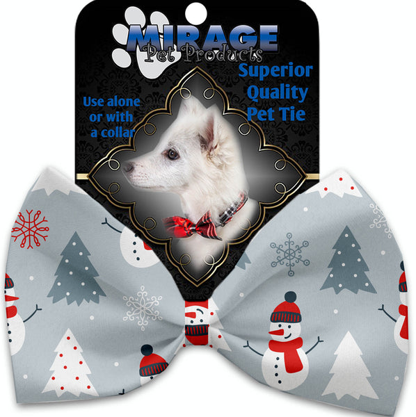 Look At Frosty Go Pet Bow Tie Collar Accessory With Velcro.
