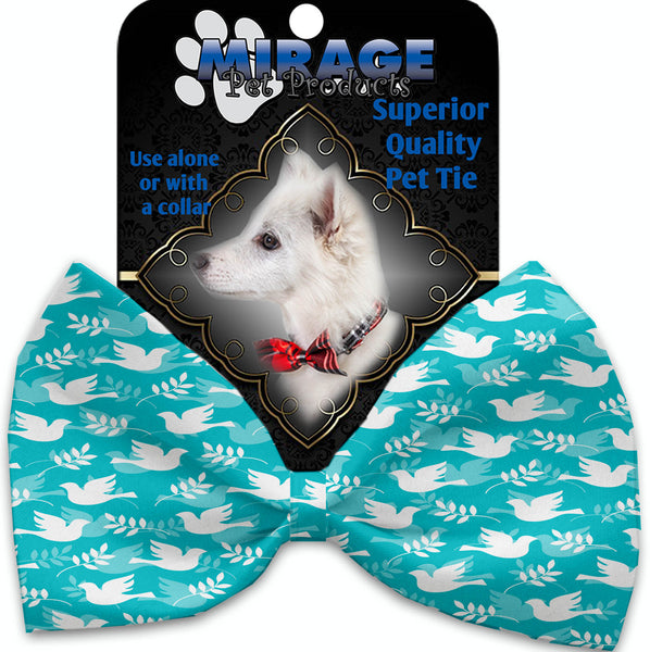 Hope And Peace Pet Bow Tie Collar Accessory With Velcro.