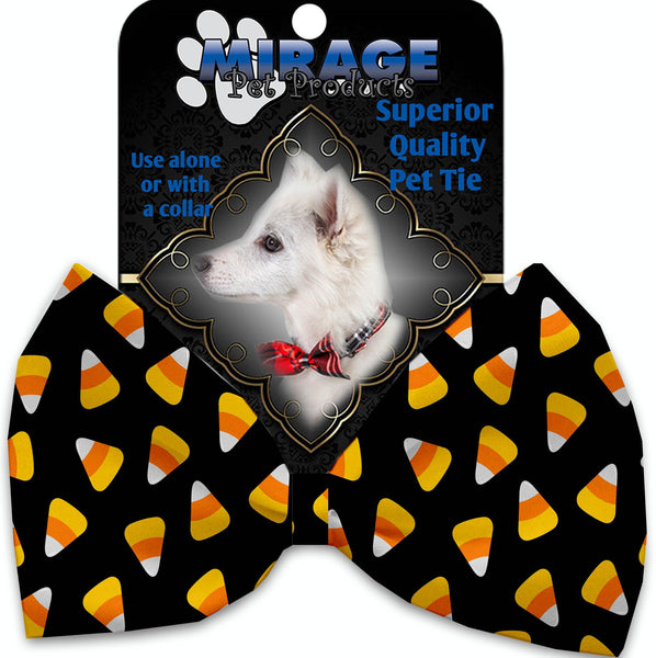 Candy Corn Pet Bow Tie Collar Accessory With Velcro