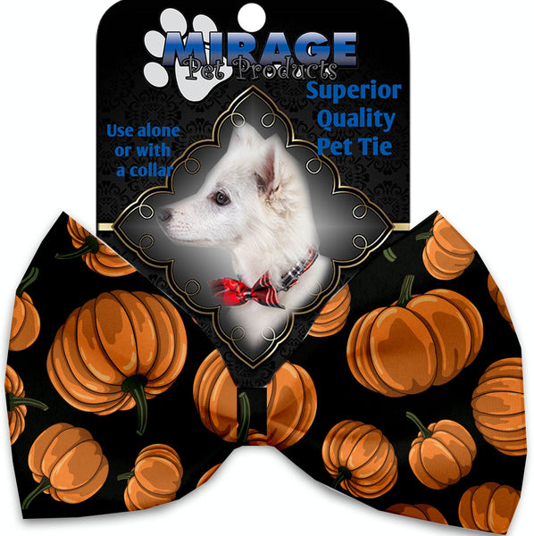Pumpkin Patch Pet Bow Tie Collar Accessory With Velcro