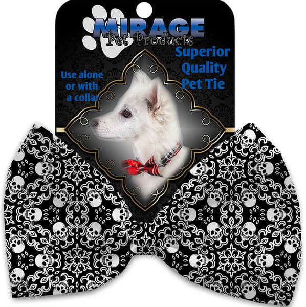Spinning Skulls Pet Bow Tie Collar Accessory With Velcro