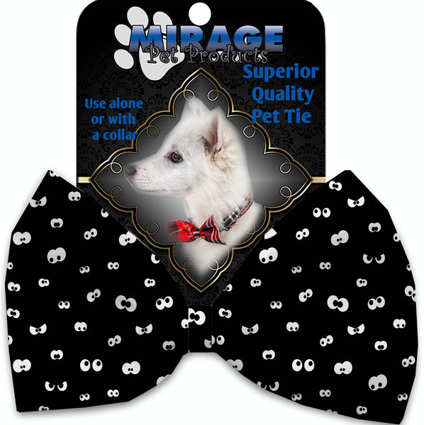 Eyes Eyes Everywhere Pet Bow Tie Collar Accessory With Velcro.