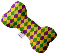 Mardi Gras Diamonds Inch Bone Dog Toy.