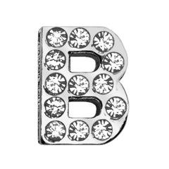 "3-4"" (18mm) Clear Letter Sliding Charms B."