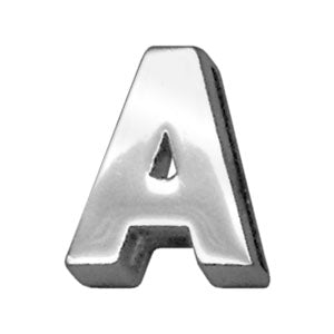 "3-4"" (18mm) Chrome Letter Sliding Charms A."