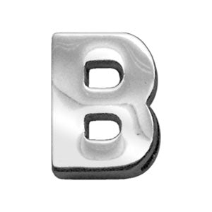 "3-4"" (18mm) Chrome Letter Sliding Charms B."