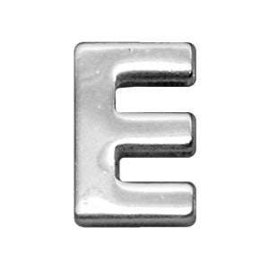 "3-4"" (18mm) Chrome Letter Sliding Charms E."